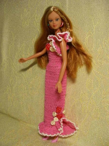 Выкройки платьев в пол для кукол барби