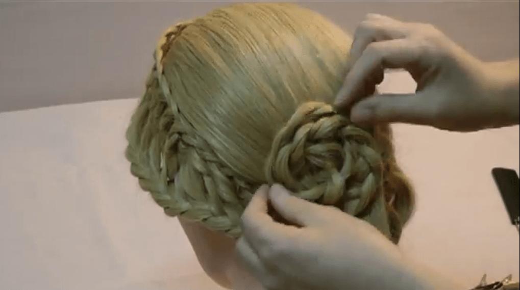 плетение с узелками