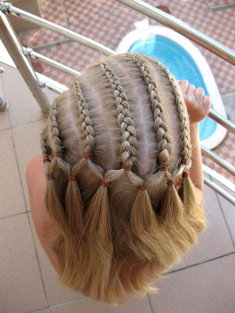 Причёски красивых косичек фото