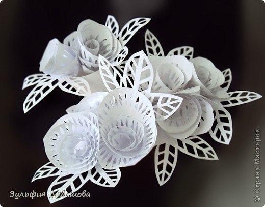 поделки из бумаги, бумажные розы, поделки для детей, детские поделки