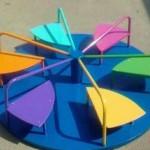 качели, карусели,горки,детская площадка,как сделать карусель на дачу